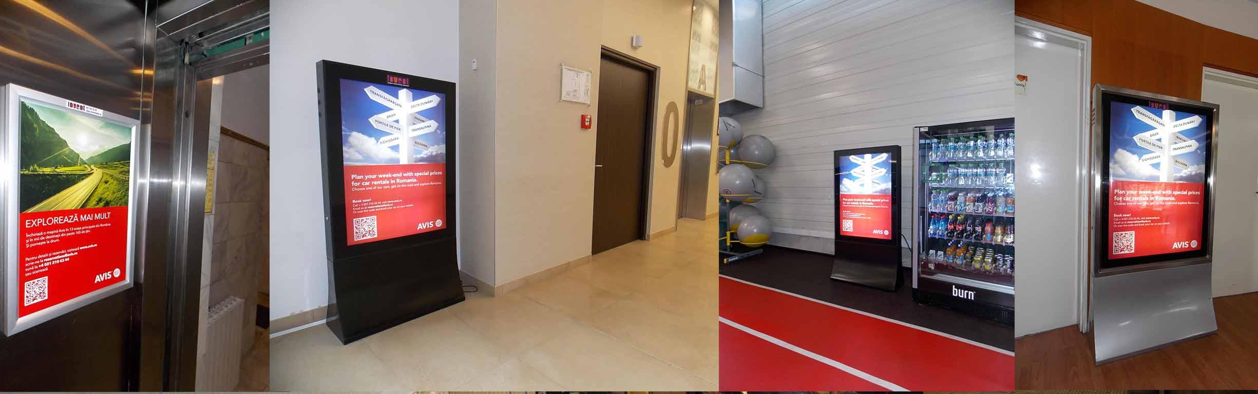 publicitatate indoor, productie publicitara